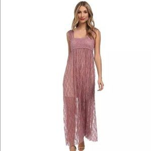 Free People Romance In the Air Lace Maxi XS NWT